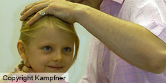 Little girl having cranial Osteopathy